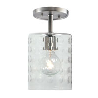 JVI Designs Grand Central 1 Light Semi-Flush Mount in Pewter 1301-17-G10