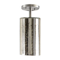 JVI Designs Grand Central 1 Light Semi-Flush Mount in Gun Metal 1301-18-G5-AM