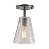 JVI Designs Grand Central 1 Light Semi-Flush Mount in Pewter 1301-17-G1-CK