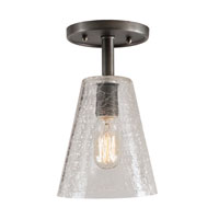 JVI Designs Grand Central 1 Light Semi-Flush Mount in Oil Rubbed Bronze 1301-08-G2-CK