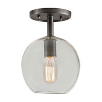 JVI Designs Grand Central 1 Light Semi-Flush Mount in Oil Rubbed Bronze 1301-08-G6