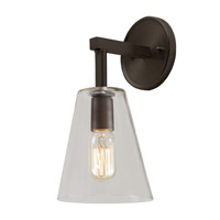 JVI Designs Grand Central 1 Light Wall Sconce in Oil Rubbed Bronze 1303-08-G1