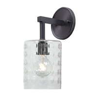 Grand Central 1 Light 6 inch Gun Metal Wall Sconce Wall Light
