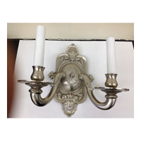 JVI Designs Decorative 2 Light Wall Sconce in Pewter 219-17 photo thumbnail