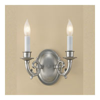 JVI Designs Oval 2 Light Wall Sconce in Pewter 220-17