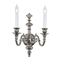 JVI Designs Edward 2 Light Wall Sconce in Pewter 232-17