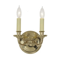 JVI Designs Ray 2 Light Wall Sconce in Polished Brass 248-01