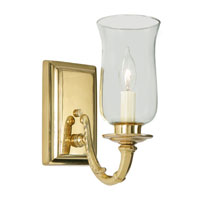 JVI Designs Signature 1 Light Wall Sconce in Polished Brass 270-01