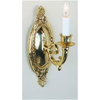 JVI Designs Classic 1 Light Wall Sconce in Polished Brass 299-01 photo thumbnail