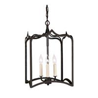 JVI Designs 3002-26 Gothic 3 Light 12 inch Matte Black Foyer Lantern Ceiling Light