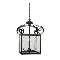 JVI Designs 3012-26 Scroll 4 Light 14 inch Matte Black Foyer Lantern Ceiling Light