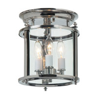 JVI Designs Murray Hill 3 Light Flush Mount in Polished Nickel 3019-15
