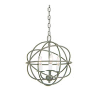 JVI Designs 3030-23 Globe 3 Light 12 inch Aged Silver Chandelier Ceiling Light