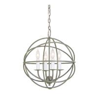 JVI Designs 3031-23 Globe 4 Light 15 inch Aged Silver Chandelier Ceiling Light