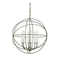 JVI Designs Globe 6 Light Chandelier in Aged Silver 3033-23 photo thumbnail