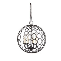 JVI Designs Globe 4 Light Chandelier in Oil Rubbed Bronze 3035-08
