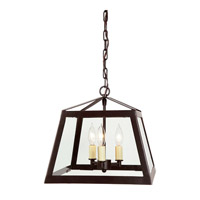 JVI Designs 3036-08 Troy 3 Light 13 inch Oil Rubbed Bronze Foyer Lantern Ceiling Light