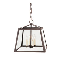 Troy 4 Light 16 inch Oil Rubbed Bronze Foyer Lantern Ceiling Light
