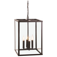 JVI Designs 3041-08 Carnegie 4 Light 20 inch Oil Rubbed Bronze Pendant Ceiling Light