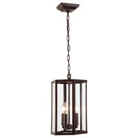 JVI Designs 3058-08 George 3 Light 16 inch Oil Rubbed Bronze Pendant Ceiling Light
