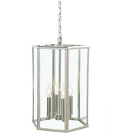 George 4 Light 20 inch Polished Nickel Pendant Ceiling Light