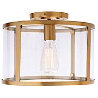 JVI Designs 3060-10 Bryant 1 Light 12 inch Satin Brass Semi-Flush Mount Ceiling Light