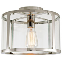 JVI Designs 3060-15 Bryant 1 Light 12 inch Polished Nickel Semi-Flush Mount Ceiling Light