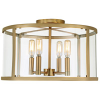 JVI Designs 3061-10 Bryant 4 Light 16 inch Satin Brass Semi-Flush Mount Ceiling Light