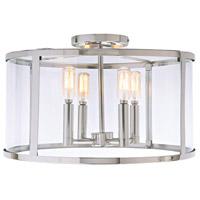 JVI Designs 3061-15 Bryant 4 Light 16 inch Polished Nickel Semi-Flush Mount Ceiling Light