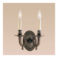 JVI Designs Petal 2 Light Wall Sconce in Oil Rubbed Bronze 308-08