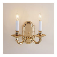 JVI Designs Elite 2 Light Wall Sconce in Polished Brass 310-01 photo thumbnail