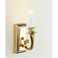 JVI Designs Modern 1 Light Wall Sconce in Polished Brass 315-01