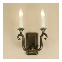 JVI Designs Rectangular 2 Light Wall Sconce in Oil Rubbed Bronze 320-08