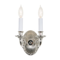 JVI Designs 332-15 Traditional Brass 2 Light 7 inch Polished Nickel Wall Sconce Wall Light