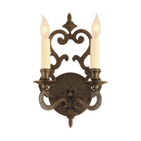 Scroll 2 Light 8 inch Oil Rubbed Bronze Wall Sconce Wall Light