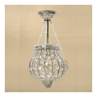 JVI Designs Pumpkin 1 Light Semi Flush Mount in Pewter 414-17