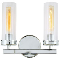 JVI Designs 422-06 Hamilton 2 Light 13 inch Polished Chrome Wall Sconce Wall Light