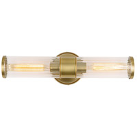 JVI Designs 424-10 Hamilton 2 Light 5 inch Satin Brass Bathroom Wall Sconce Wall Light