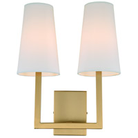 Sullivan 2 Light 13 inch Satin Brass Wall Sconce Wall Light