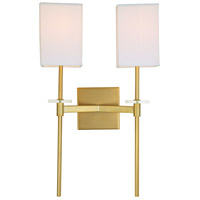 Marcus 2 Light 13 inch Satin Brass Wall Sconce Wall Light