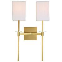 JVI Designs 442-10 Marcus 2 Light 13 inch Satin Brass Wall Sconce Wall Light