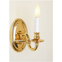 JVI Designs Beaded 1 Light Wall Sconce in Polished Brass 509-01