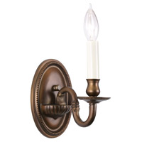 Traditional Brass 1 Light 5 inch Weathered Bronze Wall Sconce Wall Light