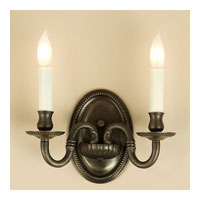 JVI Designs Beaded 2 Light Wall Sconce in Oil Rubbed Bronze 510-08