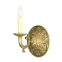 JVI Designs Signature 1 Light Wall Sconce in Antique Brass 518-05