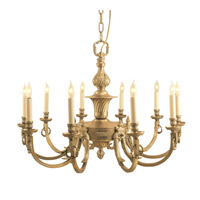 Magnificent 10 Light 32 inch Antique Brass Chandelier Ceiling Light