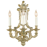 Traditional Brass 3 Light 16 inch Antique Brass Wall Sconce Wall Light
