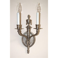 JVI Designs Flame 2 Light Wall Sconce in Pewter 644-17