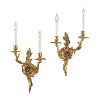 JVI Designs Rocco 2 Light Wall Sconce in Antique Brass 651-05
