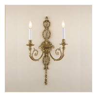 JVI Designs Majestic 2 Light Wall Sconce in Antique Brass 655-05